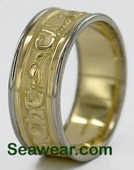 Gaelic ring two tone