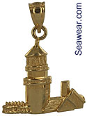 Highland Light North Truro Cape Code Mass lighthouse necklace charm