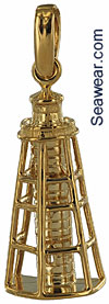 14kt Gasparilla Island Rear Range light lighthouse pendant