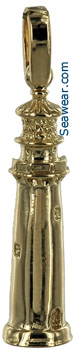 14kt gold Jupiter FL lighthouse necklace pendant