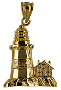 lighthouse and keepers cottage jewelry charm