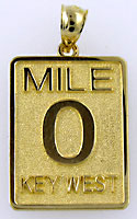 14kt Mile Marker Zero 0 in Key West charm