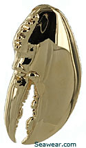 14kt gold New England lobster claw jewelry pendant