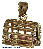 lobster trap  jewelry charm