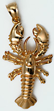 Maine lobster jewelry pendant