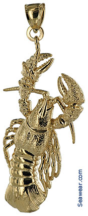 larger new england lobster jewellery  pendant
