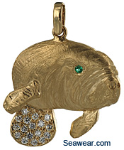 diamond manatee jewelry