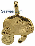 manatee calf necklace pendant