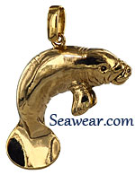 manatee necklace pendant