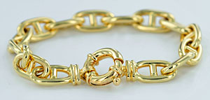 anchor link bracelet with large 20x10 solid links
