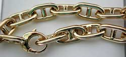 solid gold alternate marine link chain