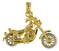 gold v twin motorcyle jewelry