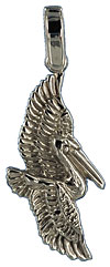 white gold flying pelican necklace jewelry pendant