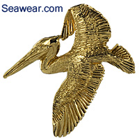 gold pelican neclace jewelry