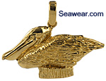 pelican on piling necklace