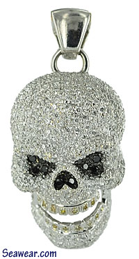 diamond pirate skull  jewelry