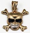 skull & crossbones pirate pendant for pirate, biker or military