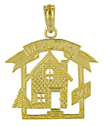 gold real estate jewelry,house home sales, realtor charms, sales tool jewelry charms