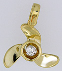 14kt propeller with .10ct diamond
