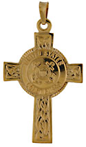 14kt gold United States Coast Guard Celtic Cross USCG Coat of Arms