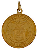 United States Air Force USAF and Saint Christopher medal