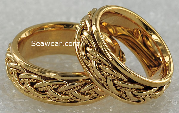 hand woven lifemates wedding bands