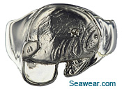 white gold manatee ring