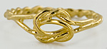14kt lovers knot ring