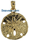 small 14k gold sand dollar pendant or charm