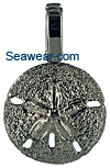 white gold sand dollar necklace charm