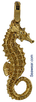 female mustang seahorse jewelry with pectoral fin