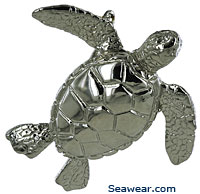white gold sea turtle jewelry necklace