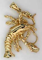 new england maine lobster jewelry pendant