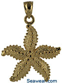 14k large starfish jewelry charm