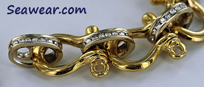 diamond and shackle bracelet