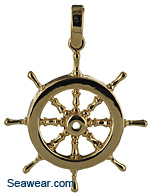 yacht wheel pendant for necklace