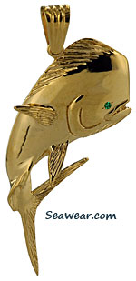 14kt gold bull nosed dolphin jewelry necklace charm