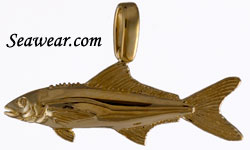 14kt hand made cobia fish pendant