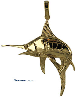 big blue marlin jewelry necklace pendant