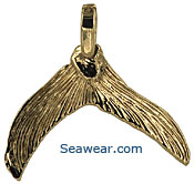 14kt gold fish tail pendant, charm or earrings