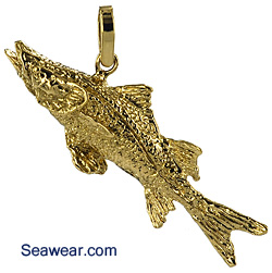 gold snook jewelry necklace pendant