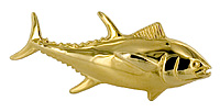 14kt gold tuna tie clasp with clutch back pin
