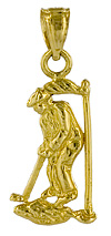 golf sports jewelry gold charm