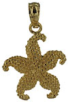 14k gold starfish jewelry necklace pendant