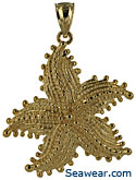 14k gorgeous bumpie starfish pendant jewelry