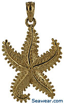 14k dancing starfish necklace pendant jewelry charm