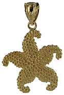 14k gold starfish necklace charm