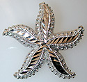14kt white gold starfish