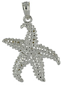 14kt white gold starfish jewelry