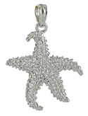 14kt white gold starfish jewelry pendant charm